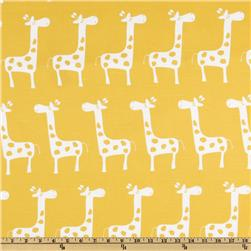 Premier Prints Gisella Slub White/ Yellow