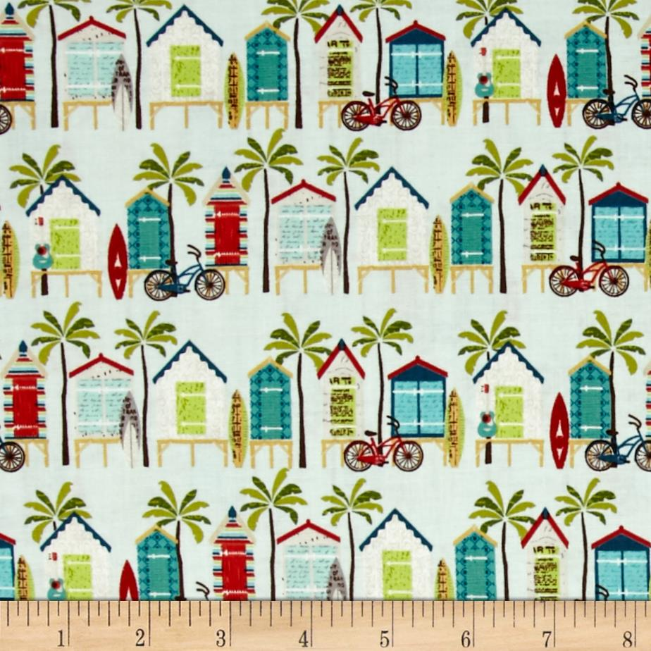 Riley Blake Offshore Beach Hut Aqua
