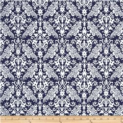 Riley Blake Medium Damask Navy