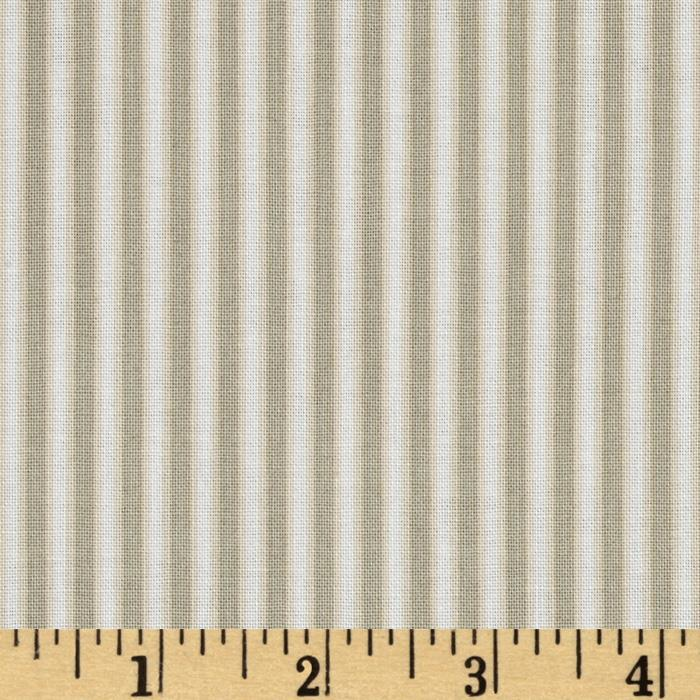 Chickadee Ticking Stripe Tan