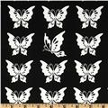 Moda Half Moon Butterflies Black