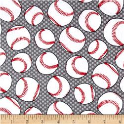 Flannel Baseballs Grey