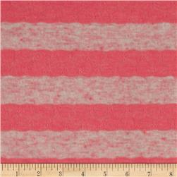 Yarn Dyed Tissue Hatchi Knit Stripes Pink