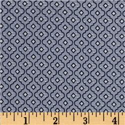 Dots and More Trellis Bluish Grey