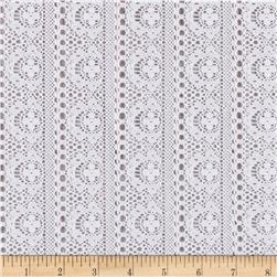 Novelty Lace Floral White