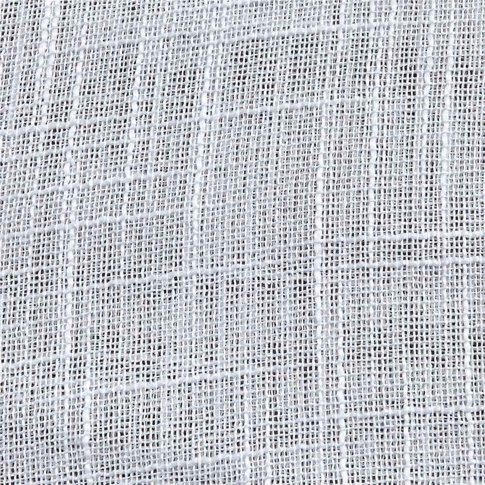"110"" Faux Linen Sheer White"
