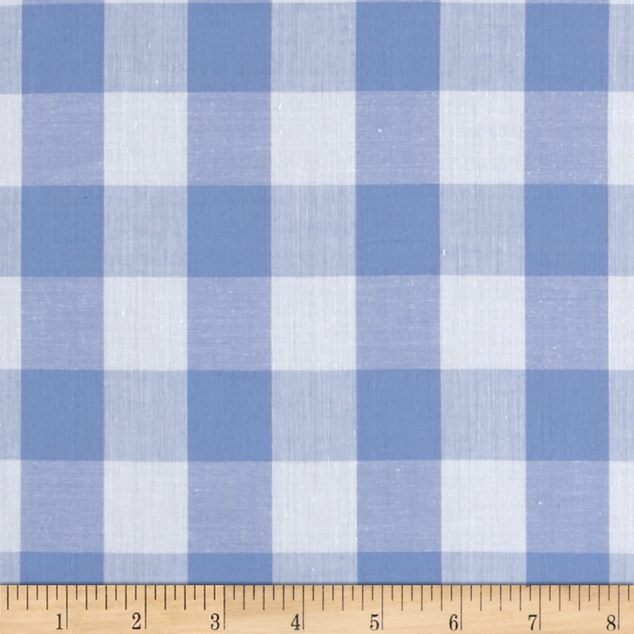Richcheck 60'' Gingham Check 1'' Blue Fabric by Richland in USA