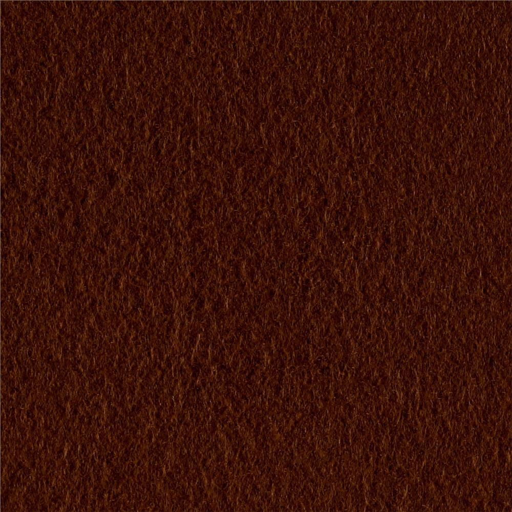 Polar Fleece Solid Brown Fabric By The Yard