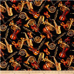 Kanvas Encore Tossed Horns & Strings Black