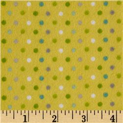 Jungle Jubilee Flannel Dots Yellow
