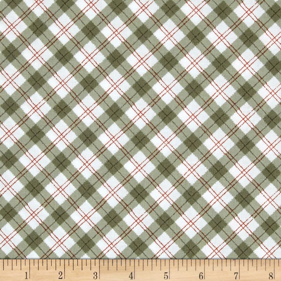 Sherwood Plaid Olive/Rust/White