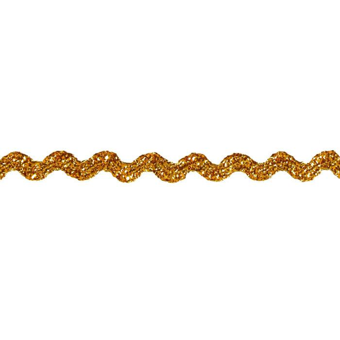 "1/4"" Metallic Ric Rac Gold"
