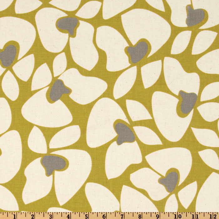 Premier Prints Helen Summerland Citrine/Natural Fabric