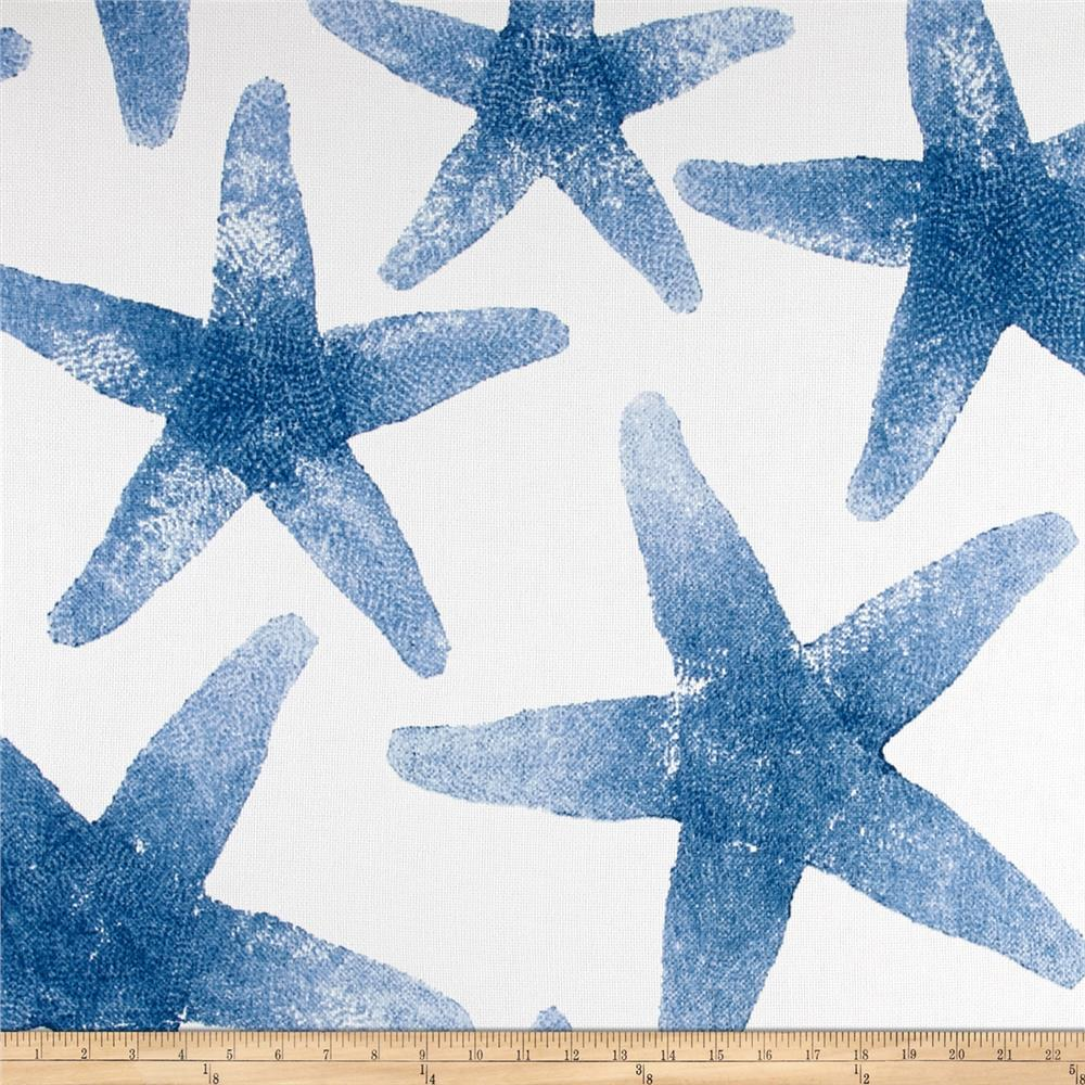 Discount outdoor fabric by the yard - P Kaufmann Indoor Outdoor Sea Stars Azure Discount Designer