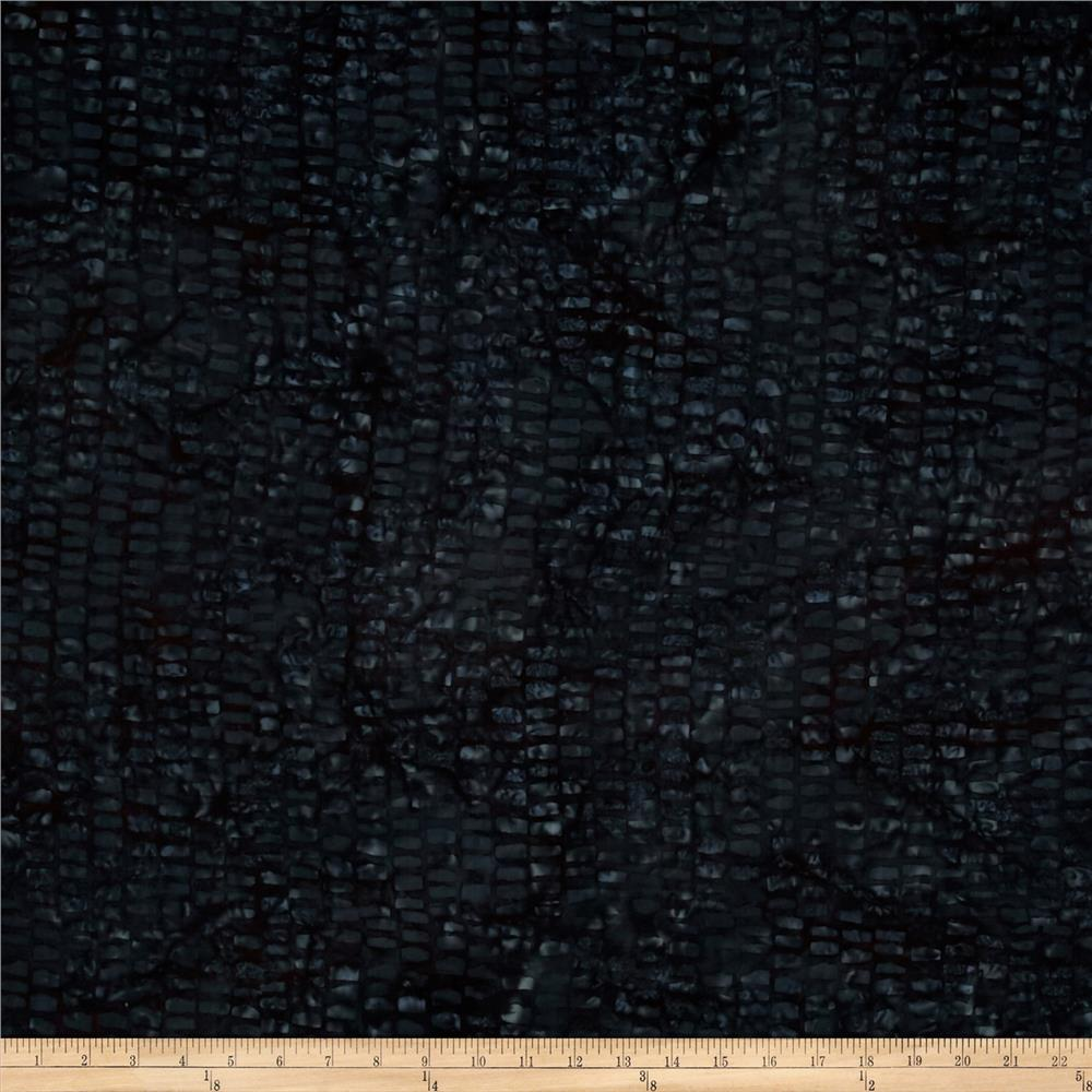 Timeless Treasures Batik Tonga Chai Tiles Black