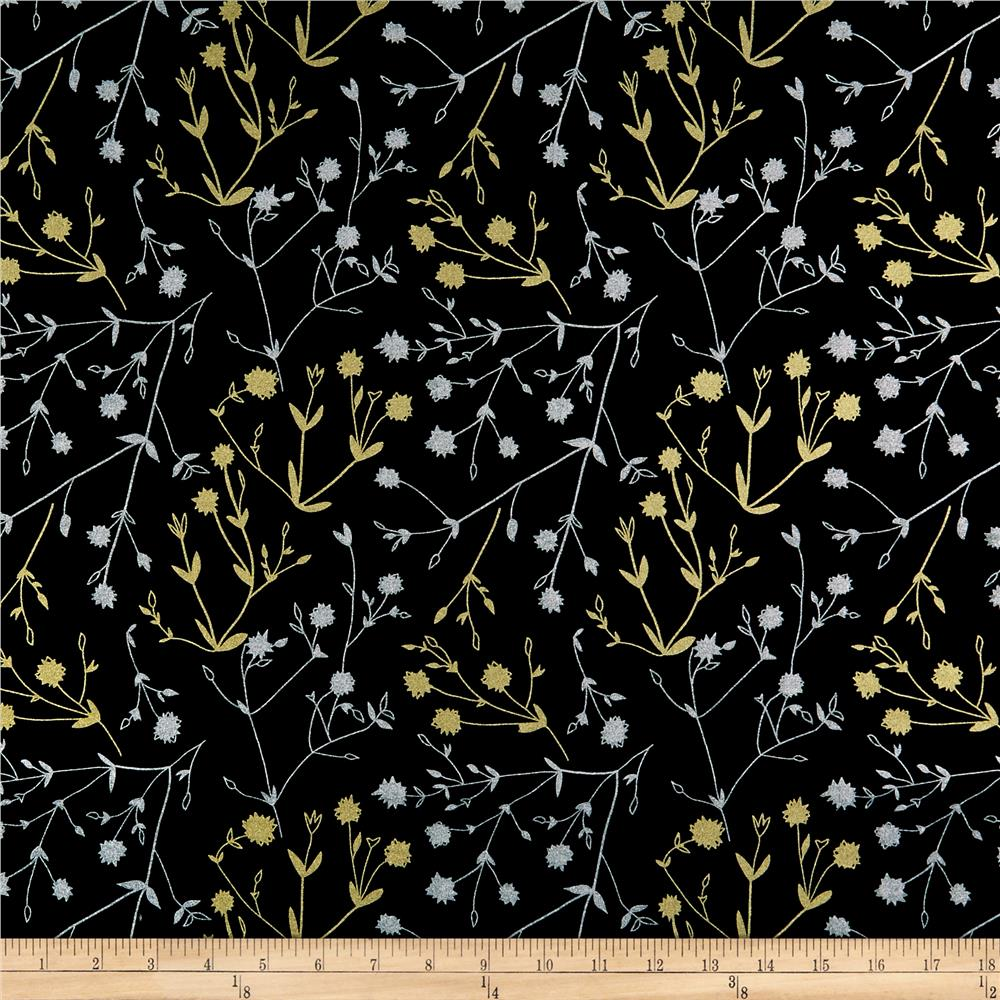 Hoffman Sparkle & Fade Foliage Metallic Black - Discount ...