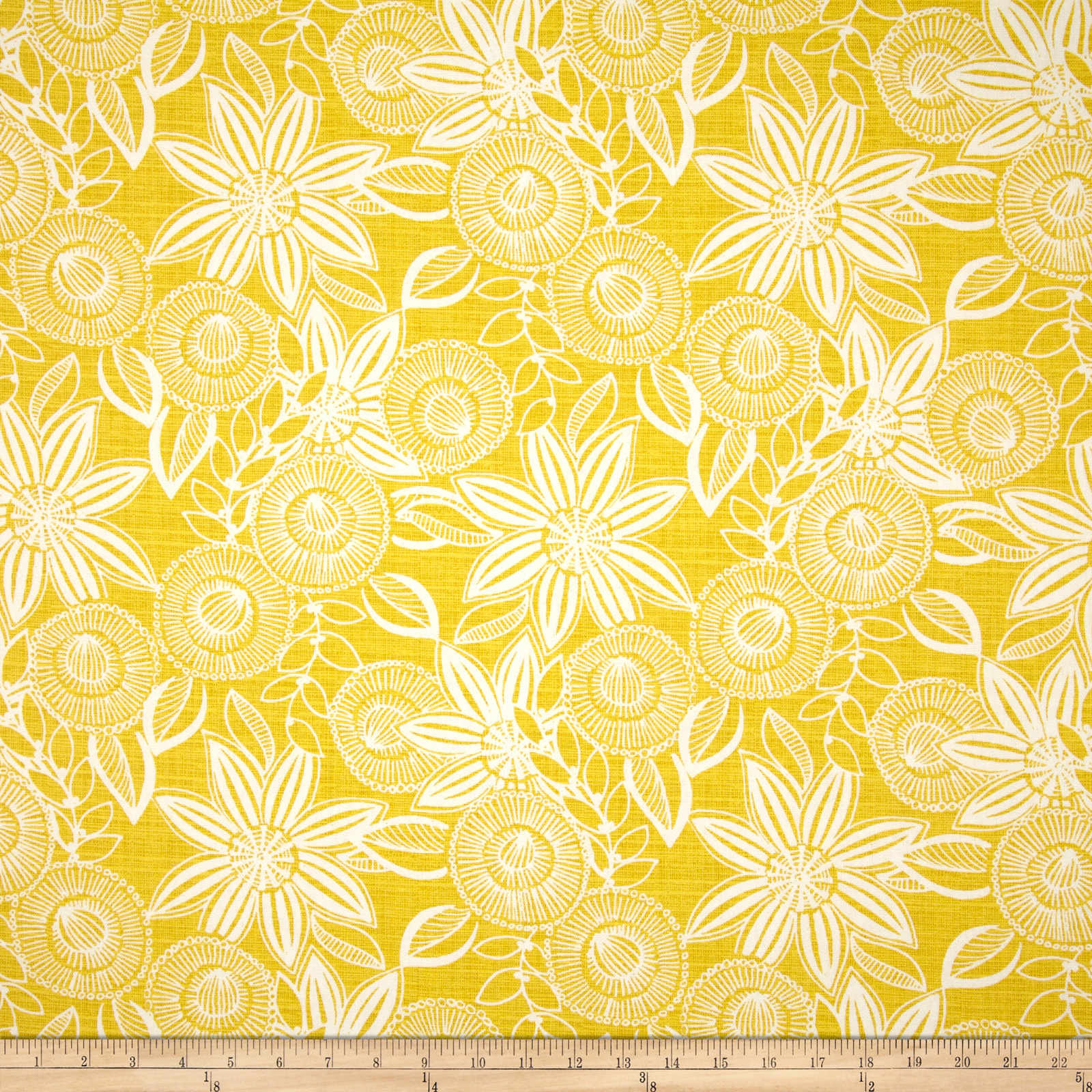 Richloom Ferndale Lemon Home Decor Fabric