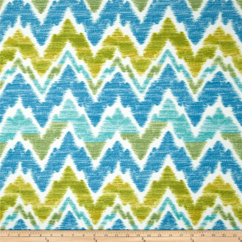 Swavelle/Mill Creek Indoor/Outdoor Tiago Chevron  Island Blue
