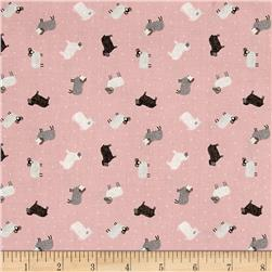 Lewis & Irene Small Things - On The Farm Sheep Blush Pink