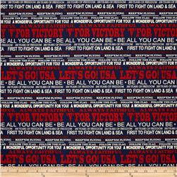 Windham Freedom Words Navy Fabric