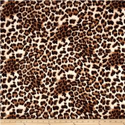 Jersey Knit Cheetah Print Brown