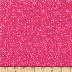 Merry Go Round Star Pink Fabric