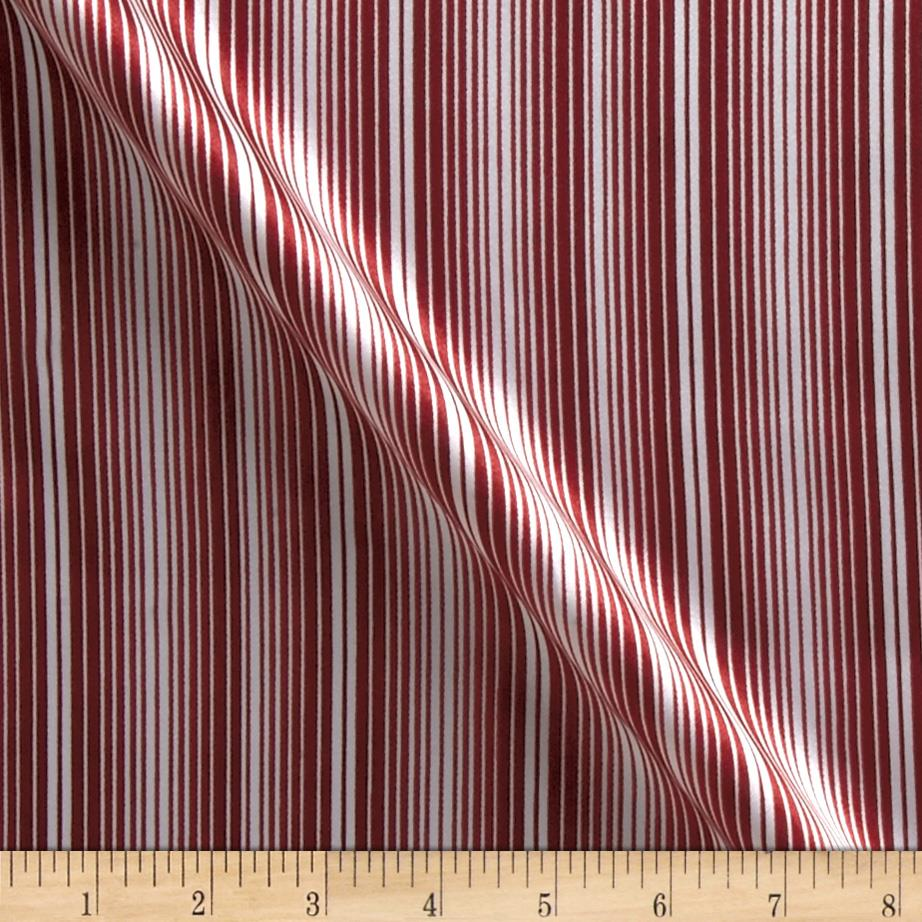 Charmeuse Satin Stripes Dark Red