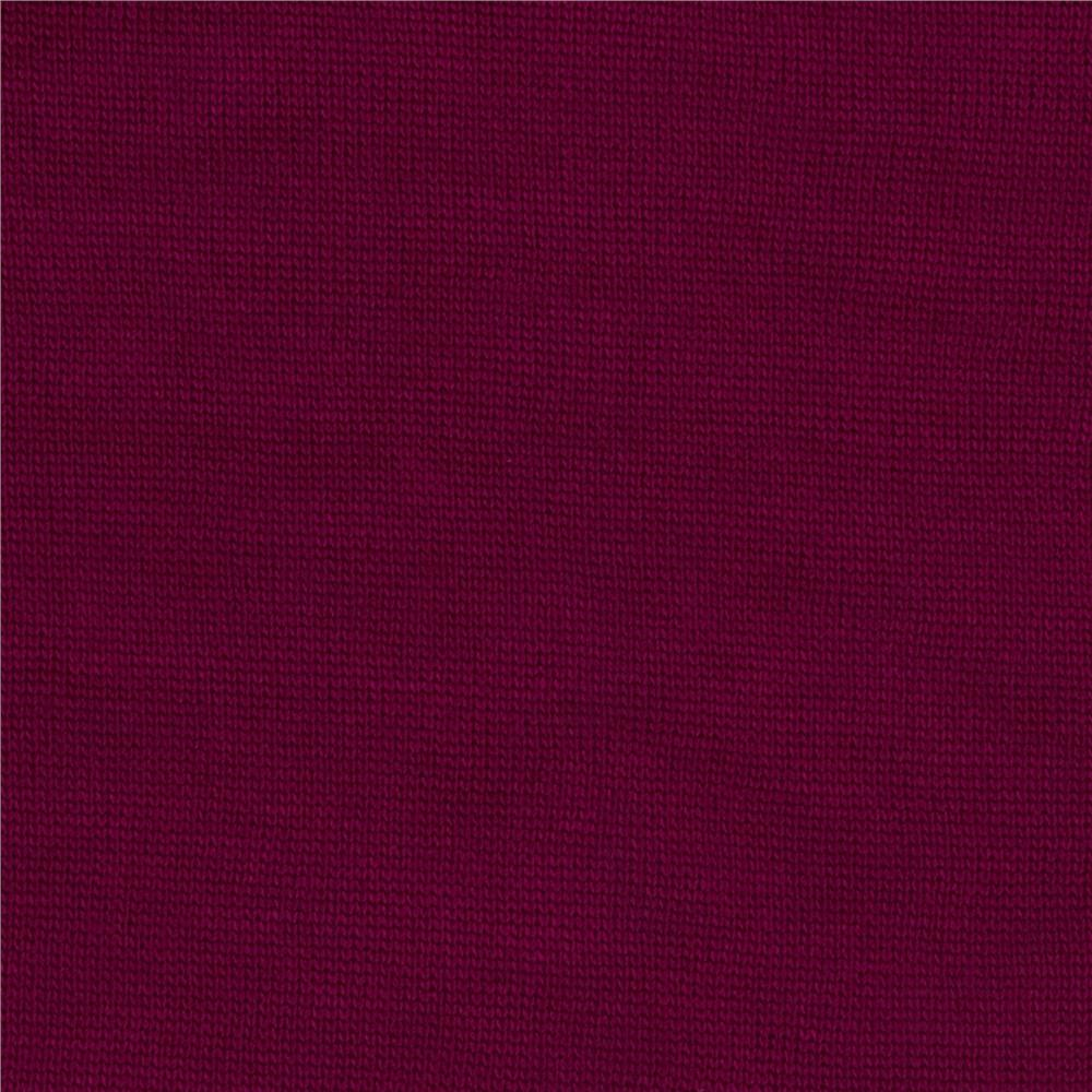 Stretch Cotton Blend Hatchi Knit Wine