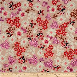 Cotton & Steel Playful Lawn Vintage Floral Pink