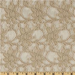 Xanna Floral Lace Fabric Champagne
