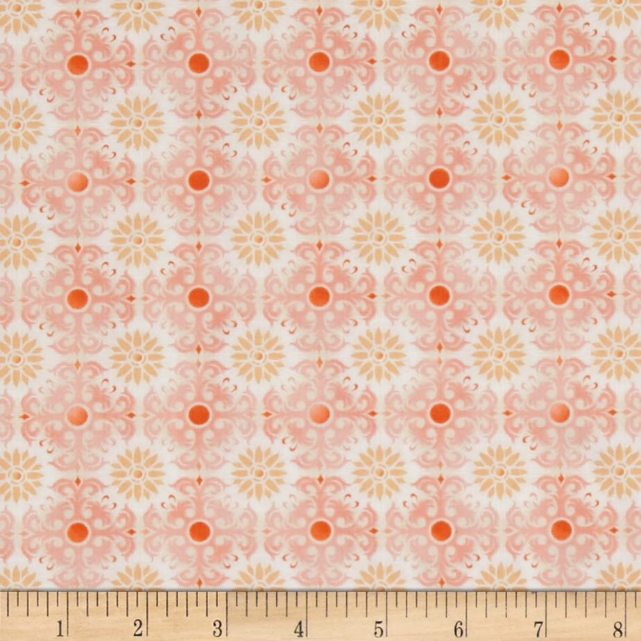 Treasures of Nature Aviary Tonal Medallion Peach