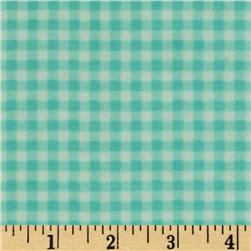 Heritage Flannel Gingham Check Aqua
