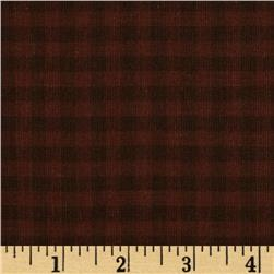 Homespun Yarn Dyed Plaid Shirting Orange/Brown