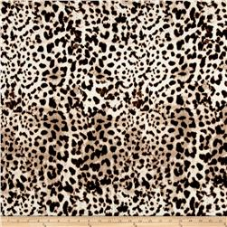 Brushed Jersey Knit Cheetah Black/Ivory