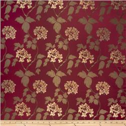 Fabricut Sangiovese Floral Faux Silk Red