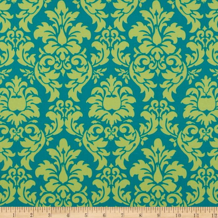 Michael Miller Dandy Damask Lagoon Blue