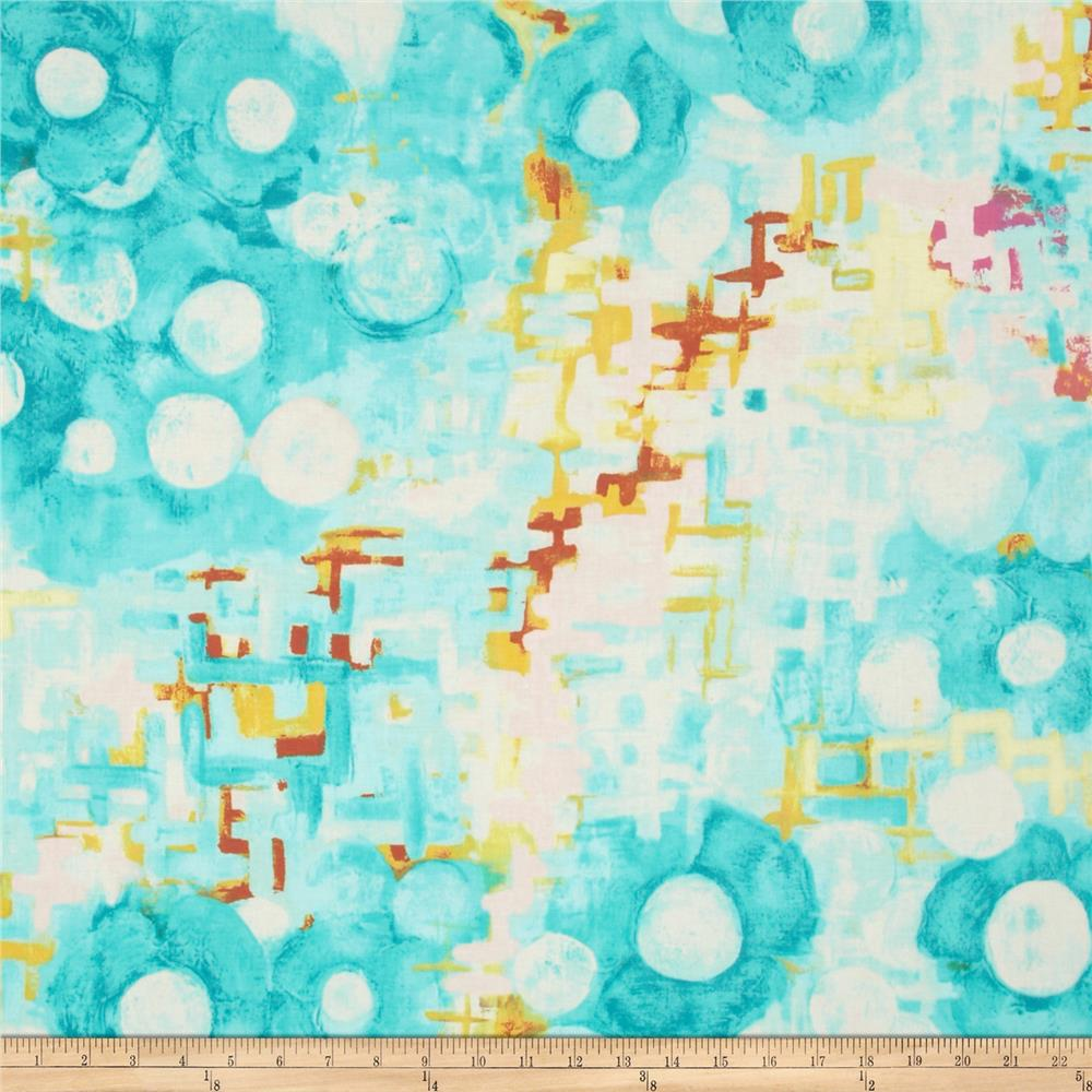 Michael Miller Vignette Reflecting Pool Aqua