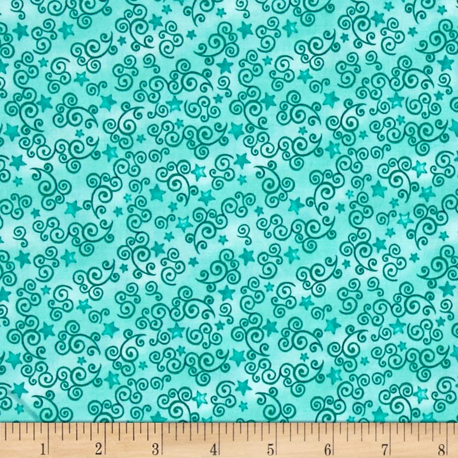 Royal Princess Star & Scroll Dark Aqua