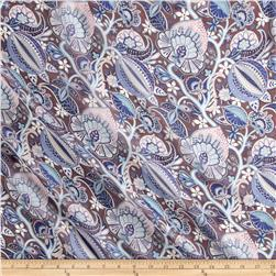 Liberty of London Regent Silk Chiffon Citronella Brown/Blue/Pink