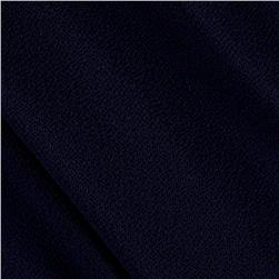Bubble Crepe Solid Navy Blue