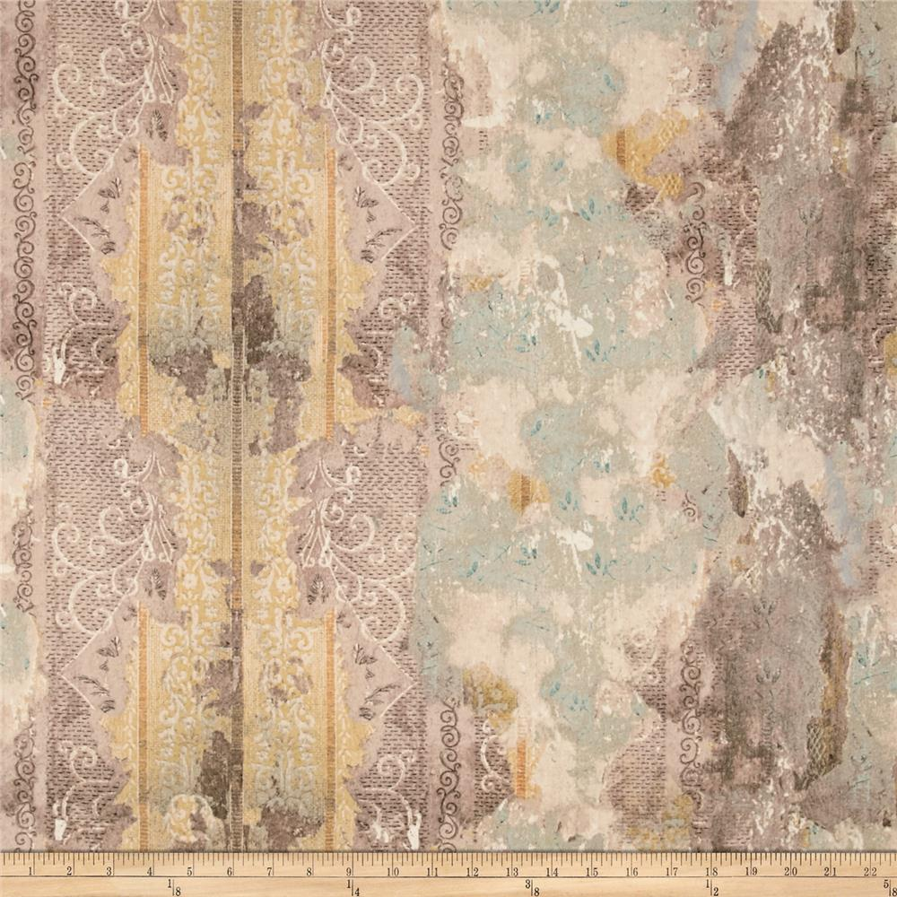 Tim Holtz Electric Elements Wall Flower Worn Wallpaper Multi Fabric By The Yard