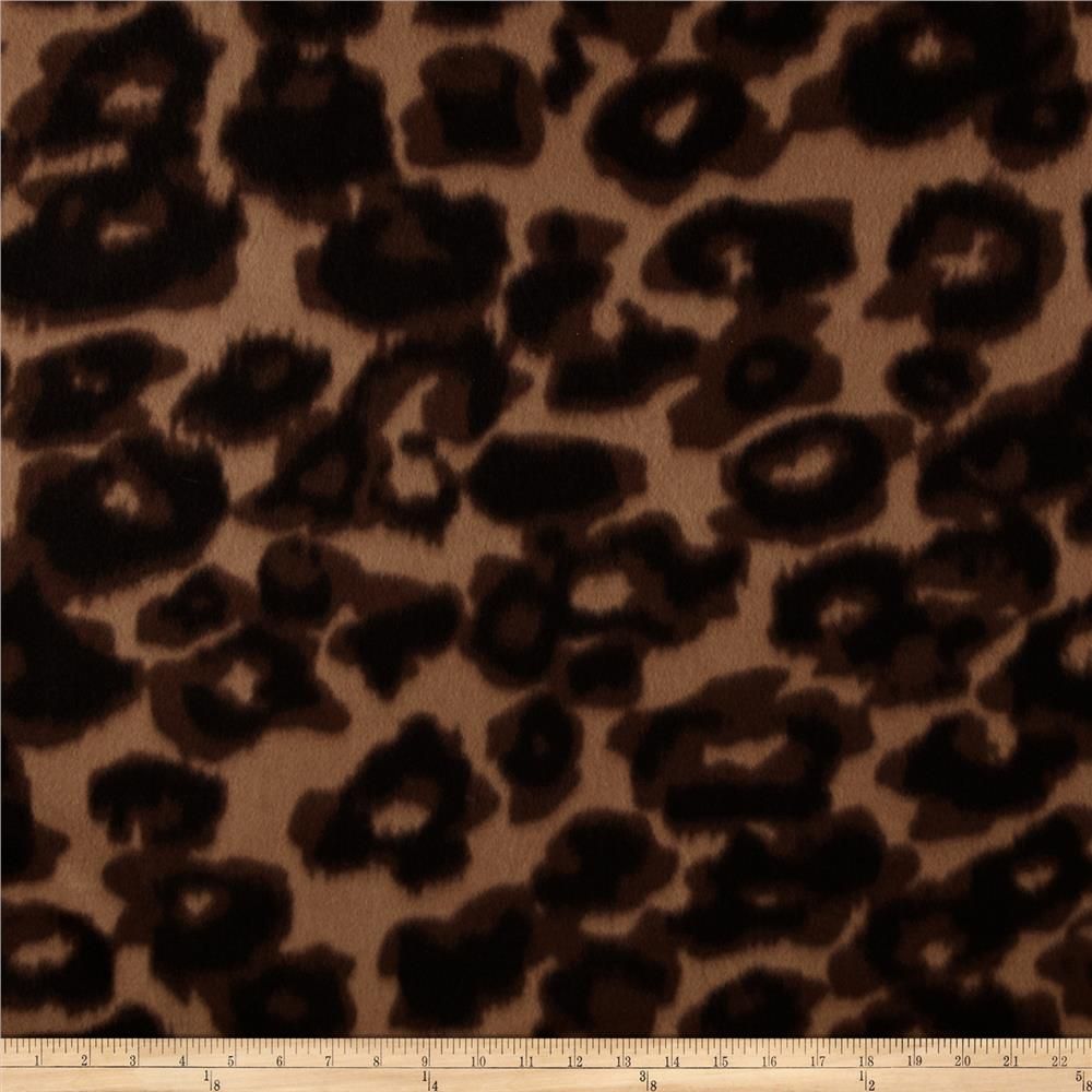 Fleece Prints Bold Leopard Brown