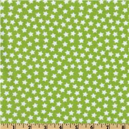 Camelot Flannel Stars Lime Fabric