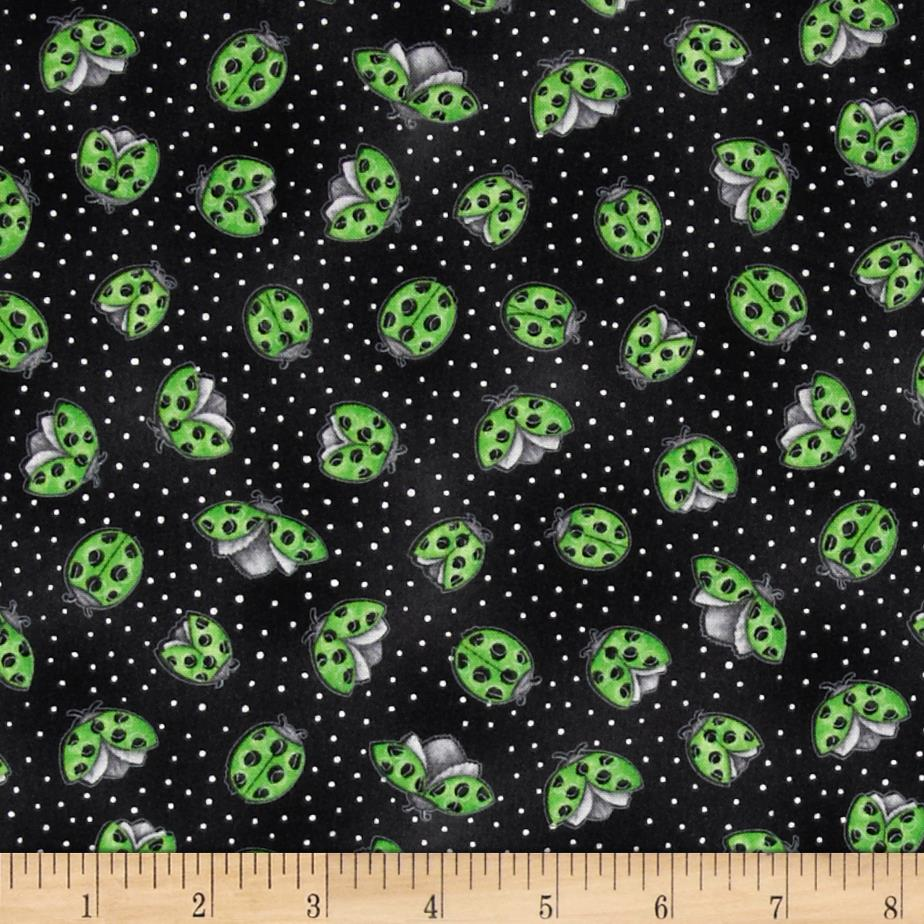 Morning Mist Lady Bugs Black/Green