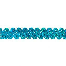 3/8'' Hologram Stretch Sequin Trim Aqua Blue