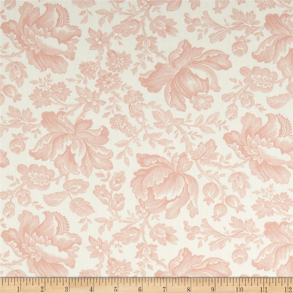 Moda Whitewashed Cottage 108'' Wide Quilt Backs Linen-Rose