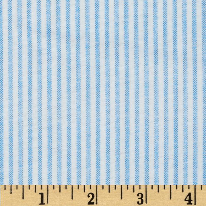Comfy Flannel Stripe Blue Fabric