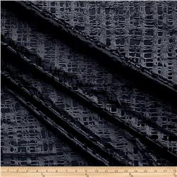 Telio Gridiron Stretch Velvet Burnout Geo Charcoal
