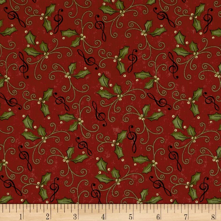 Moda Delightful December Holly Berry
