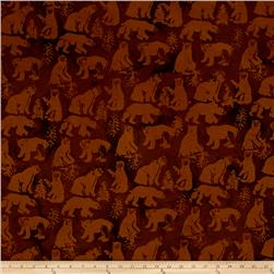 Island Batik Bear Light Brown/Dark Brown